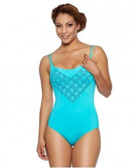 Shape controll one piece with soft foam cup, tiny double strapped